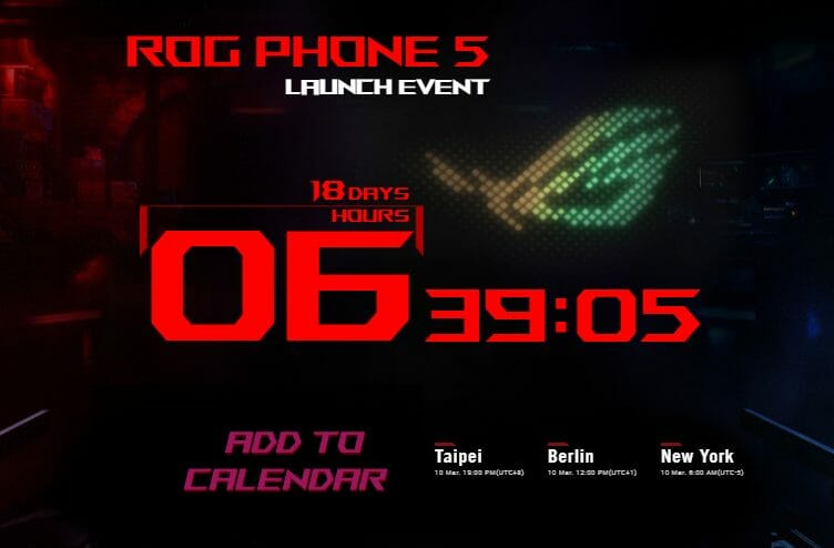 ASUS ROG Phone 5 Launch Event