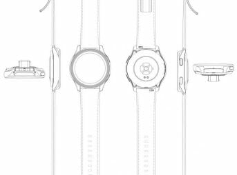 OnePlus Watch Patent Sketches - Leather Strap