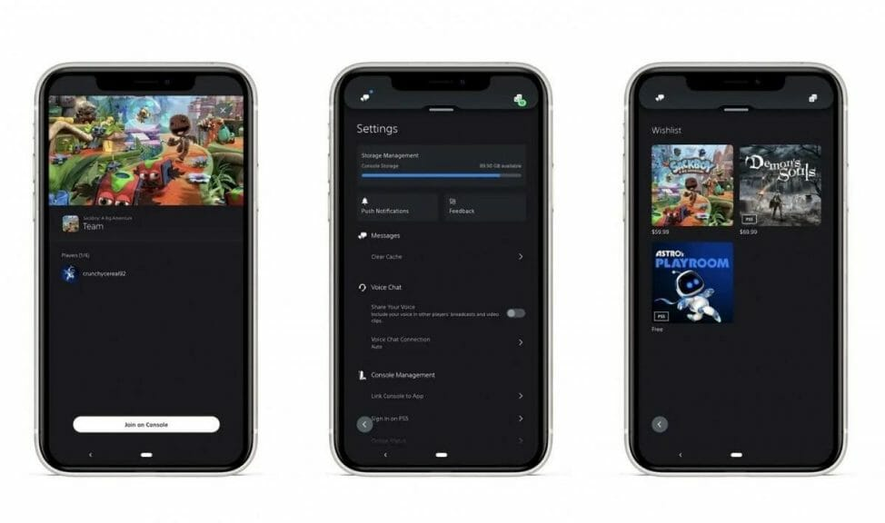 Sony PlayStation 5 Mobile App Updates