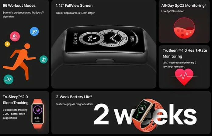 Huawei Band 6 Features