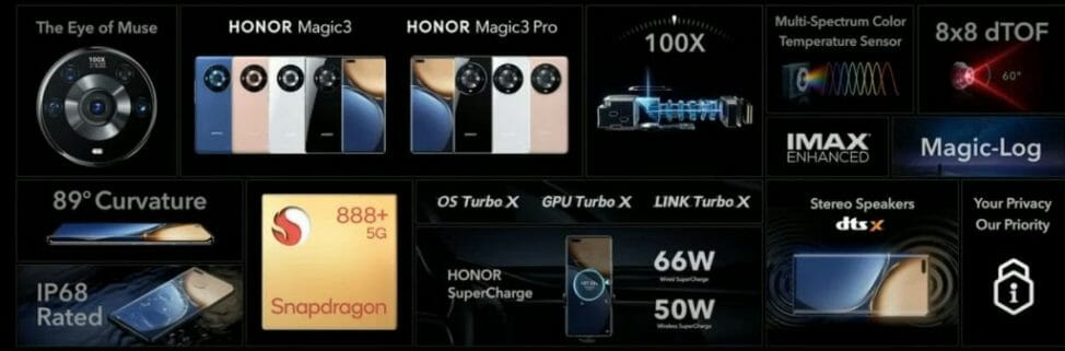 Honor Magic 3 and Magic 3 Pro Features