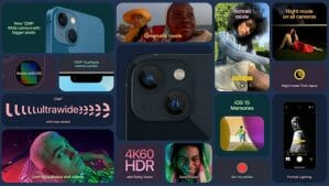 Apple iPhone 13 Camera Features